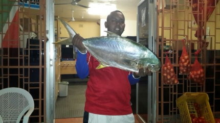 Caught on cracker and prawn combo , 7.56 kg weighed , PB edible fish Pompano