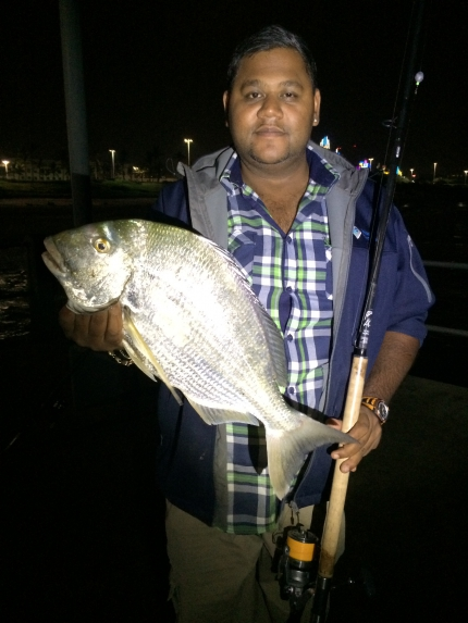 This beautiful Stumpnose caught on the 20/05/2014 on light tackle. Assasin Rock Hopper 11 foot, Ulte
