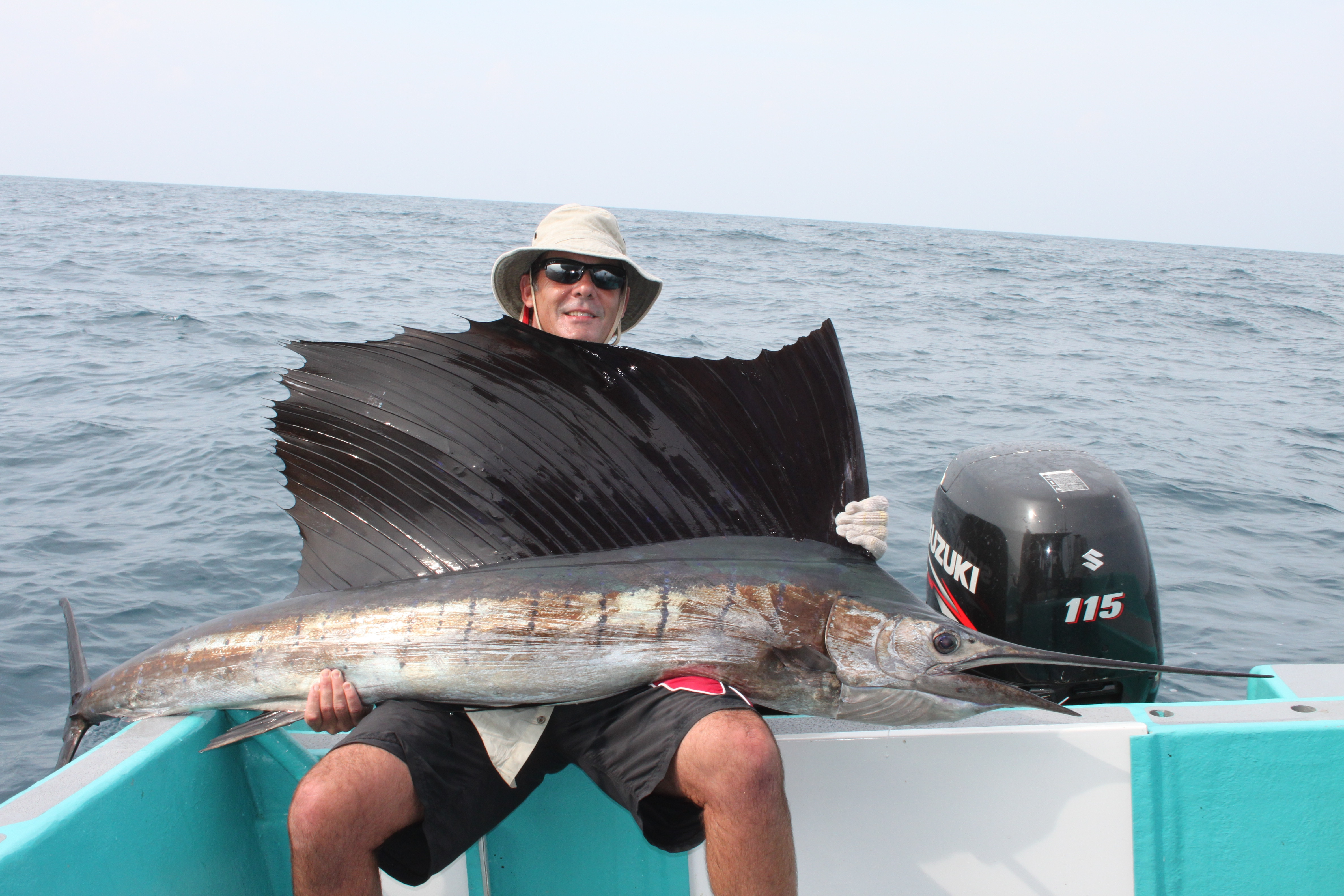 My friend Geoff with a 60 kg sailfish. Caught and released in Rompin Malaysia. Caught and released 8