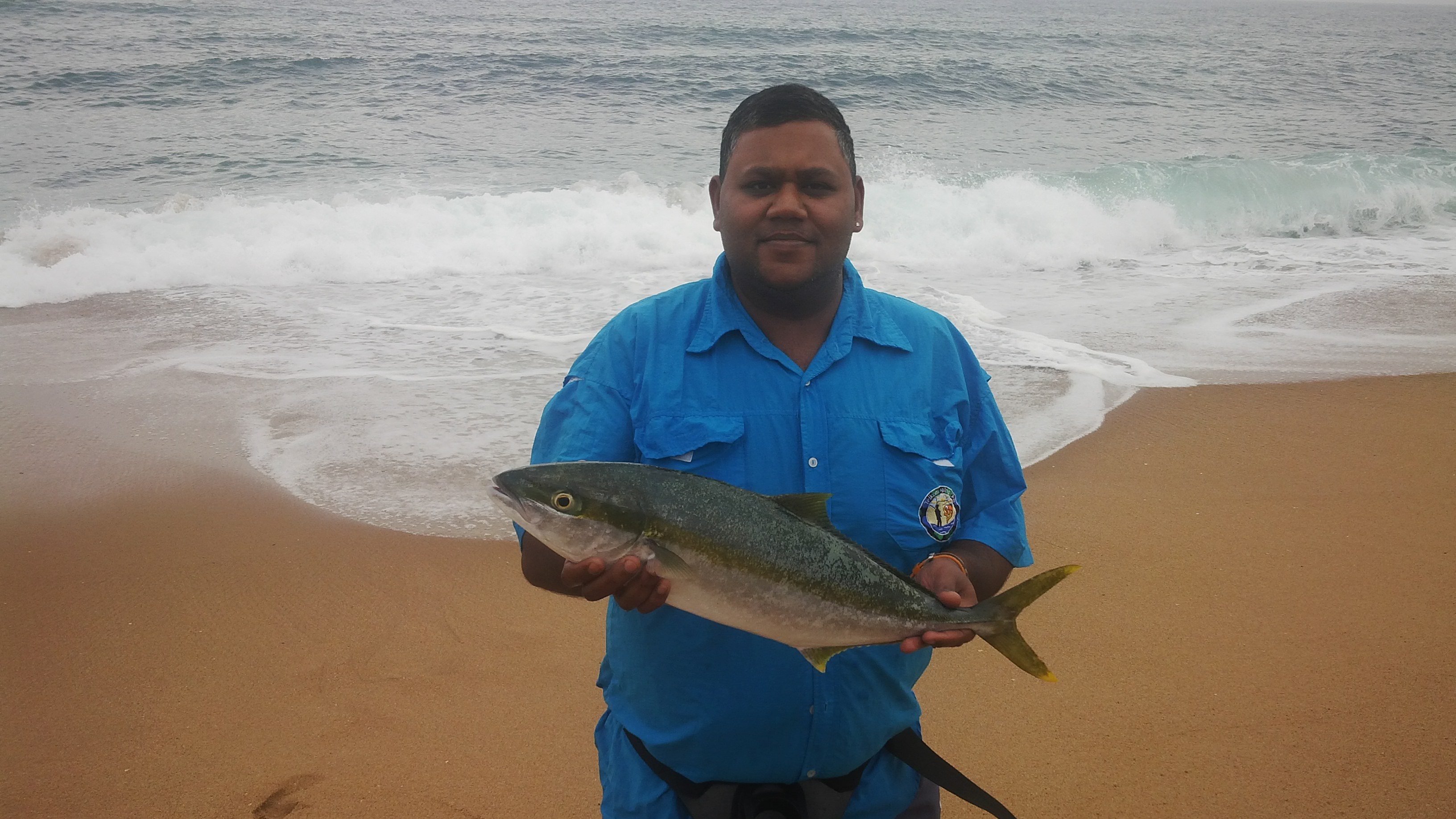 Yellowtail 2.55kg caught at Lamercy beach on Chokka and Sardine. IMG_20141123_151057