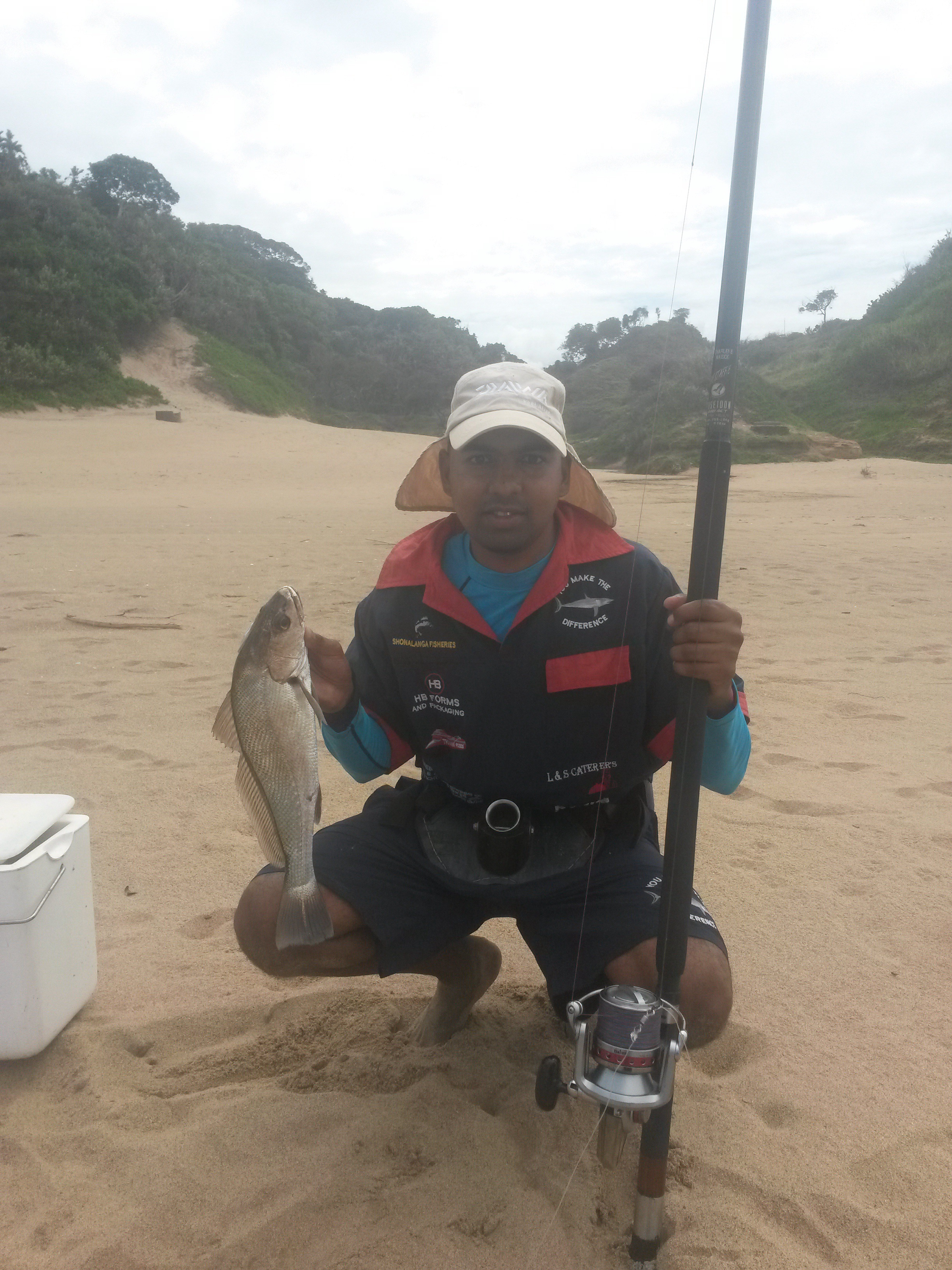 Caught at port durnford used grinder for da first time felt good image