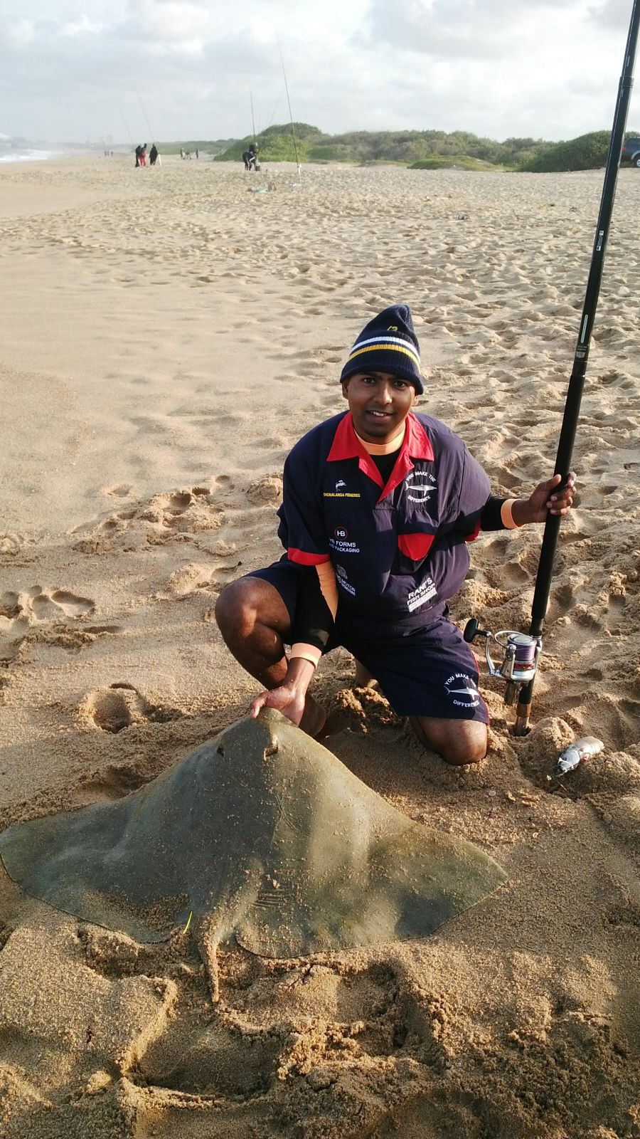 Caught at Glen Ashley by Shalvin Naidoo. Bait shad tackle saltiga surf 6000 pair with a loomis 14ft.
