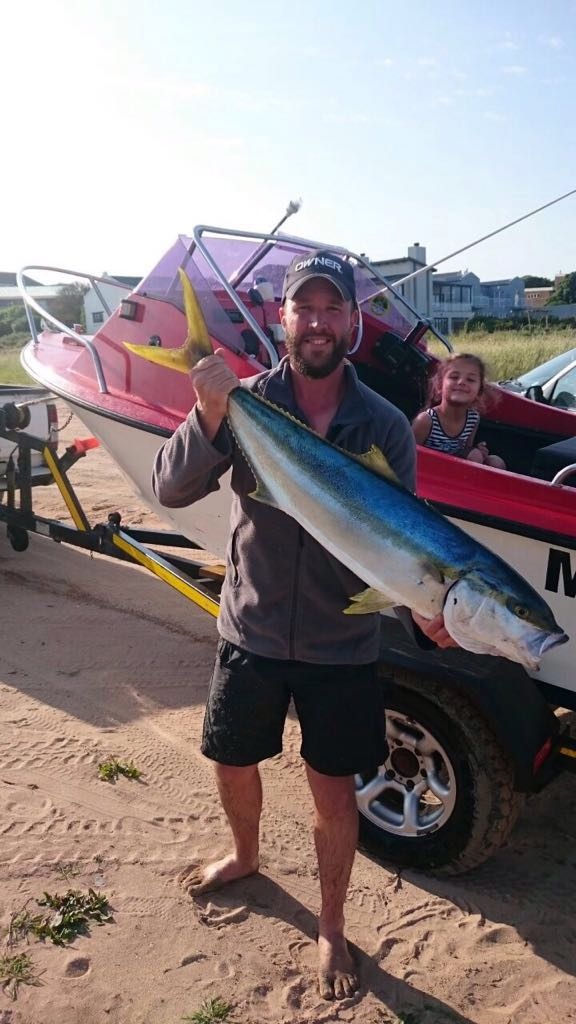 Yellowtail caught of the West Coast in Britannia bay, 9.5kg IMG-20160904-WA0002