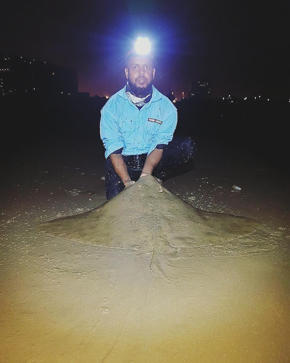 Summer is here!…Sandy and Diamond Ray measuring in @ +- 1.2m, caught at Ushaka over the weeken
